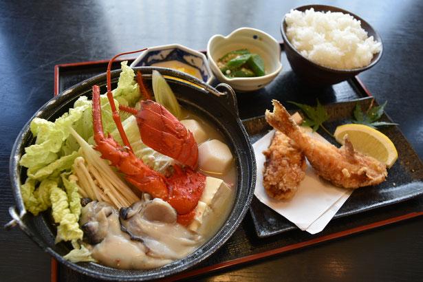 伊勢海老と牡蠣の特製みそ鍋セット