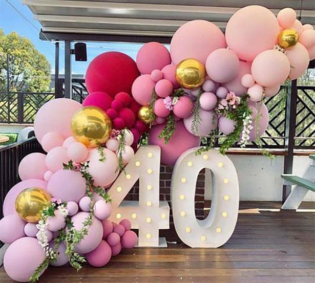 decoracion globos fiesta 40 años