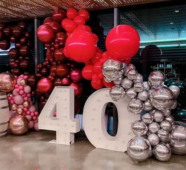 ideas decoracion cumpleaños 40