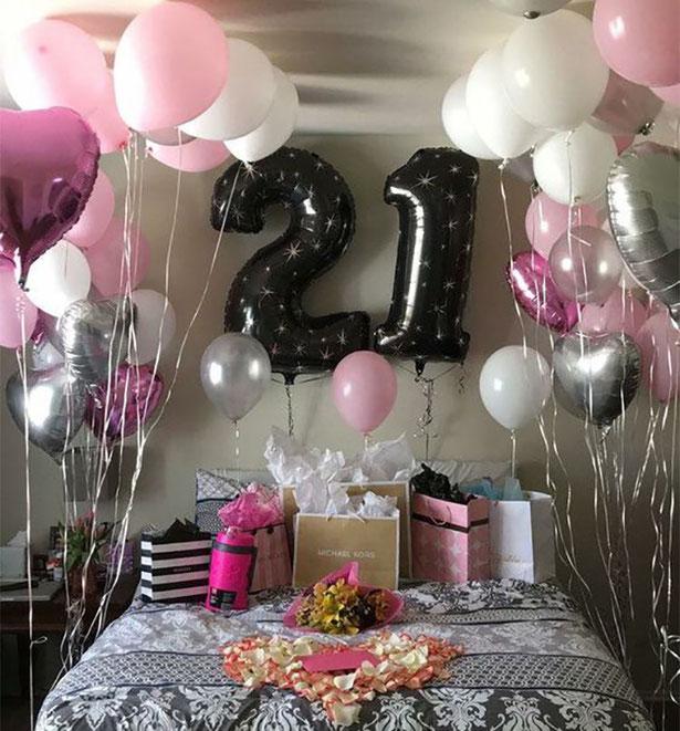 decoracion globos 21 años