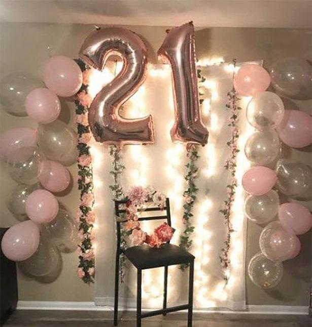 fiesta 21 años en casa