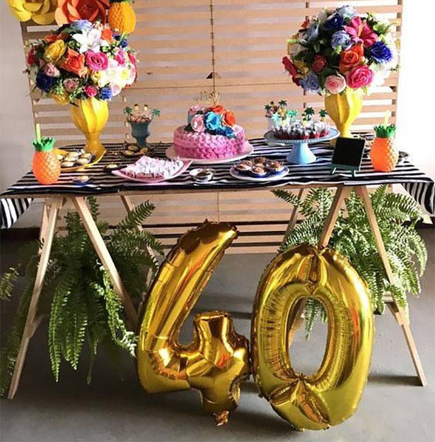 cumpleaños 40 años decoraciones