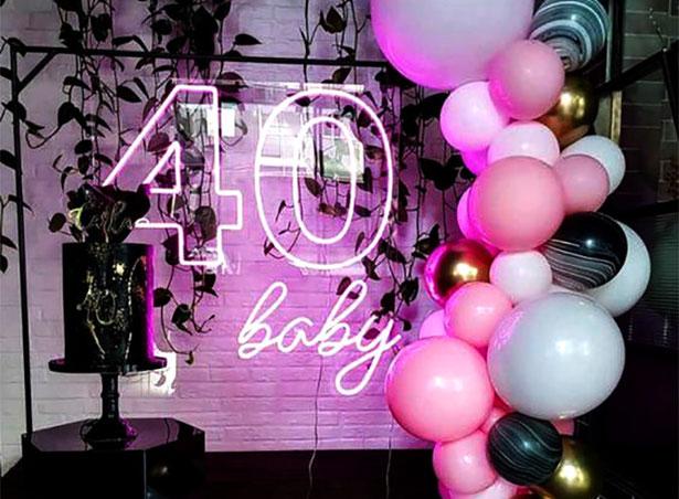 fiesta 40 años decoracion