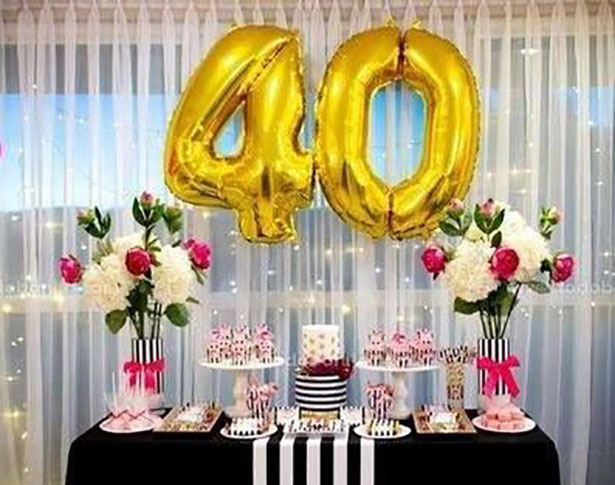 arreglo cumpleaños 40 años