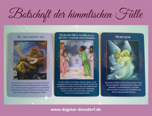 Lies die Botschaft aus dem Gratis Orakel der Engel der himmlischen Fülle