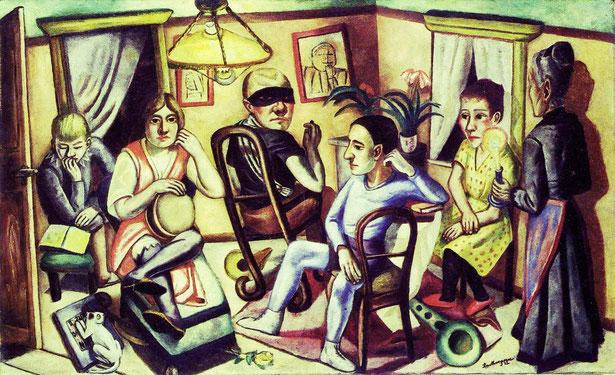 """M. Beckmann, """"Vor dem Maskenball"""" (1922)"""