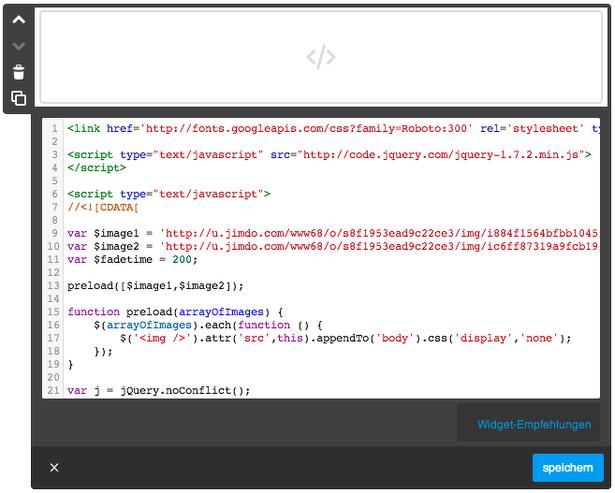 """Zeilennummern, Highlighting der Syntax & Nutzung von Tabs im Jimdo """"HTML - Widget"""" möglich"""