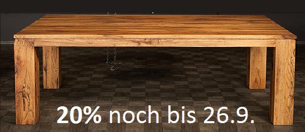 Rabatt auf Holztisch, Rabatt auf Masstisch, Rabatt auf Tisch auf Mass