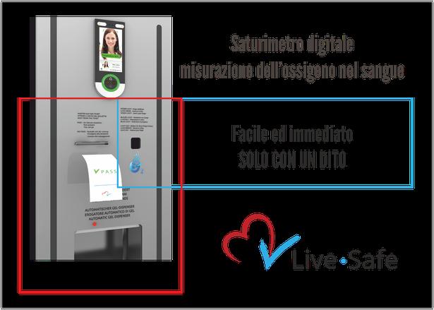 Live Safe il totem di monitoraggio digitale_ saturimetro ossigeno nel sangue