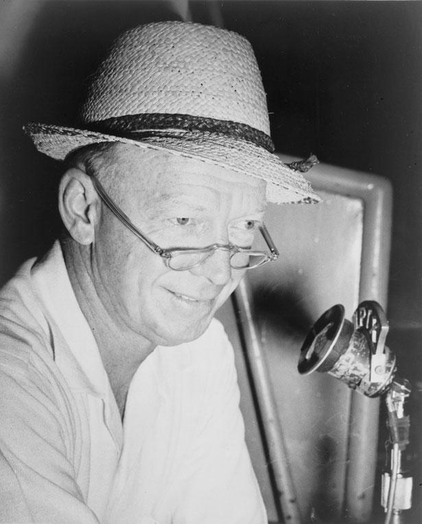 """Walter Lanier """"Red"""" Barber (ironia della sorte il suo cognome era uguale al soprannome di Sal """"Barber"""" Maglie), nei primi anni 50 era il commentatore radiofonico dallo Stadio dei Brooklyn Dodgers"""