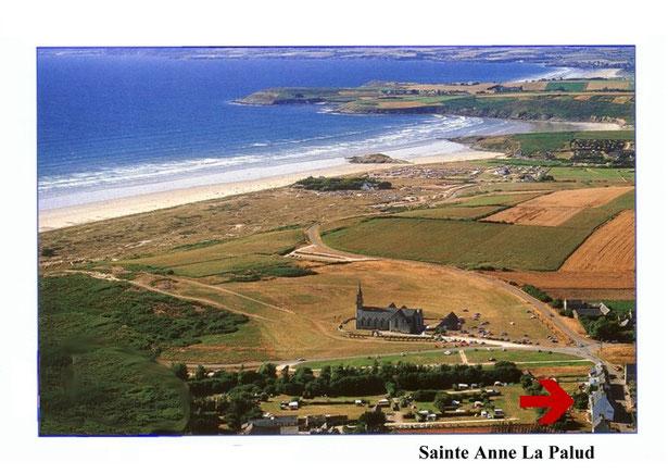 Ferienwohnung Wernze in der Bretagne  Sainte Anne la Palud - Luftbild