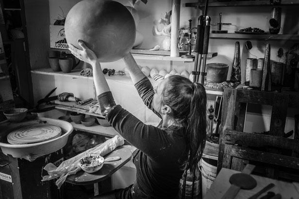 Boutonnet Mélanie Montpellier artiste céramiste créatrice de pièces uniques a Montpellier 18/09/2017