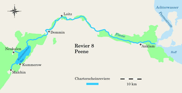 Charterscheinrevier Peene