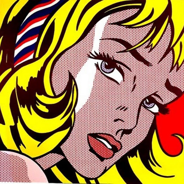 ロイ・リキテンシュタイン《ヘアリボンの少女》(1965年)