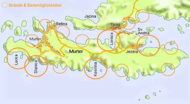 Kroatien - Strände & Bademöglichkeiten