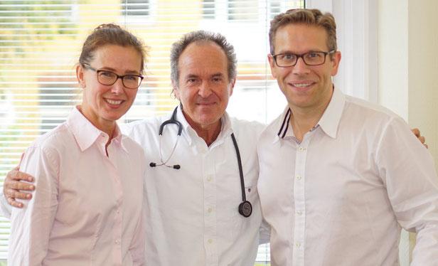 Foto Ihrer Ärzte: Fr. Dr. Katrin Lassahn, Dr. Martin Biskowitz, Dr. Christian N. Pickert