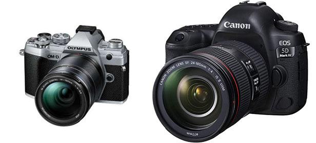 Olympus OM-D  M5 Mark3 & Canon EOS 5D Mark4 一眼レフ ミラーレス