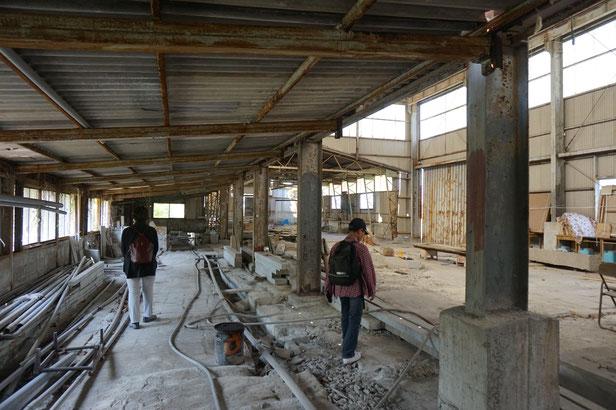 廃墟と化した工場ですが、いろいろなイベントに活用も考えているそうです。