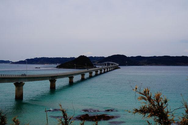 こちらは帰りに撮影した角島の景色。ちょとだけ青い海が見れました。