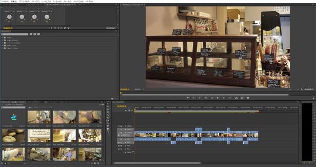 編集ソフトはAdobe Premiere Proを使っています。婚礼の即日編集ではEdiusを使うこともあります。