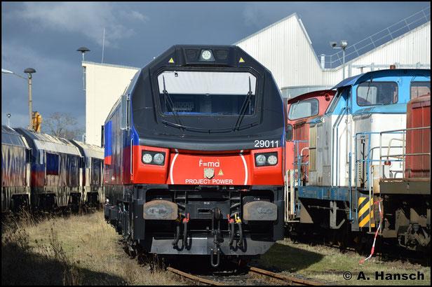 267 004-0 (HHPI 29011) steht am 12. Februar 2019 im Werk Cottbus