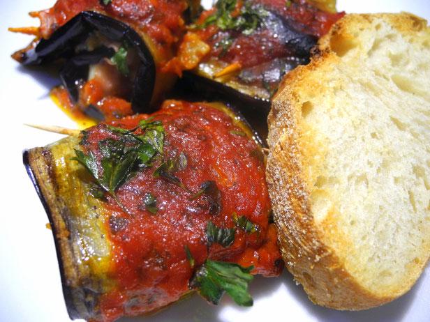 Involtini alla siciliana-mit Auberginen-Guten Appetit!