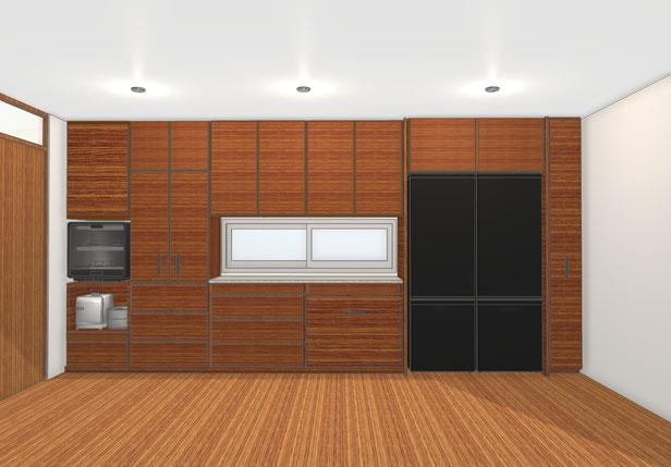 キッチン収納 壁面収納 オーダー家具