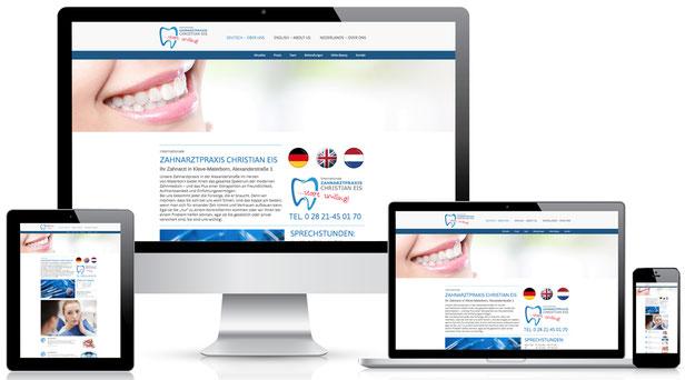 Moderne Websites passen sich – dank Responsivem Design, allen Endgeräten an.