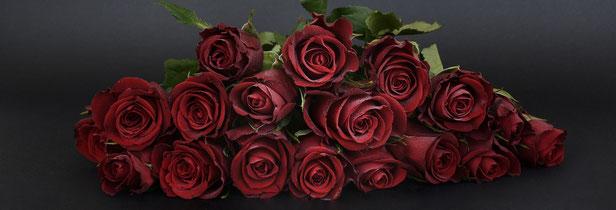 Hochzeitstag - rote Rosen