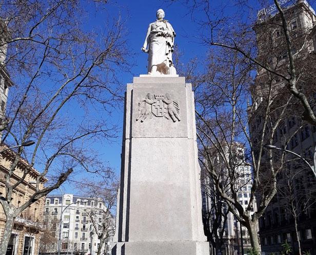 Памятник Жоану Гуэлю в Барселоне