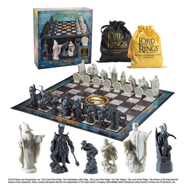 Schachspiel Herr der Ringe Battle for Middle Earth Mittelerde Schach 47x47cm Noble Nob2174