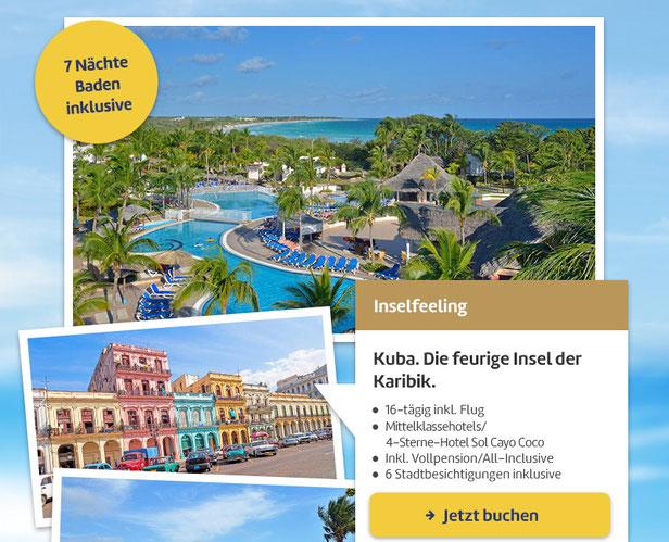 Kuba Rundreise Januar Februar März 2017 mit Baden Sol Cayo Coco all inclusive Hotel Kuba