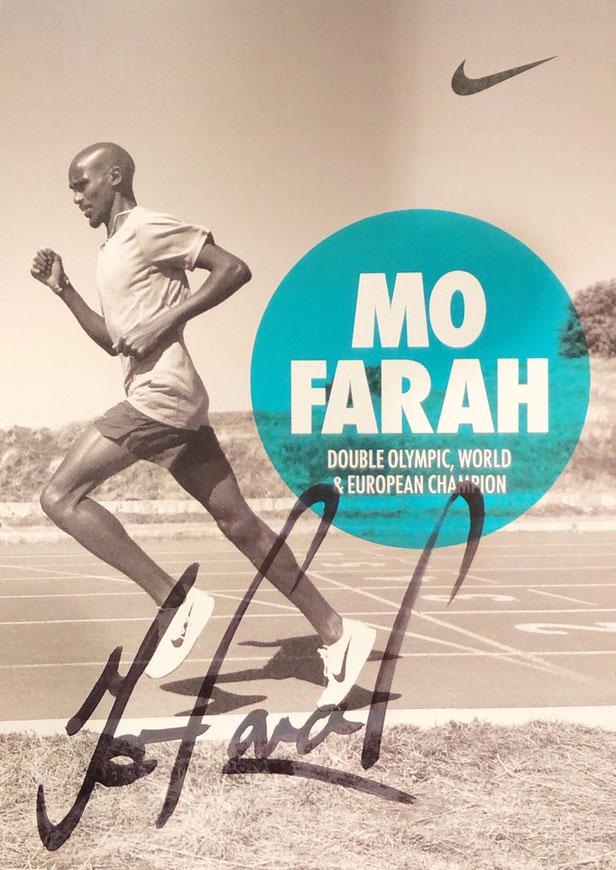 Autograph Mo Farah Autogramm