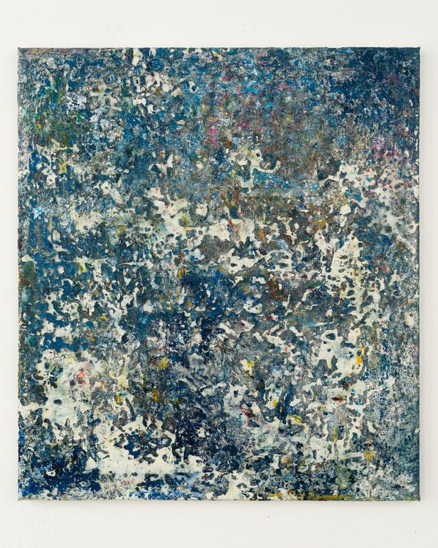 Nils Bleibtreu_The anti Years_90x80cm_Ölfarbe, Vinylfarbe, Epoxidharz auf Glasfilamentgewebe, geklebt auf Polyestergewebe