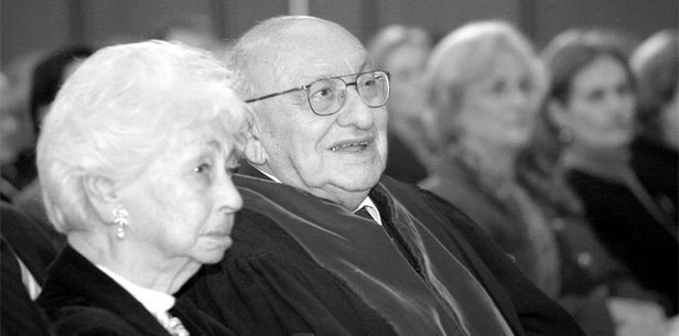 Marcel Reich-Ranicki s. A. mit seiner Frau Teofila s. A.