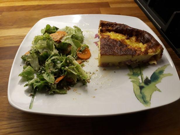 quiche Lorraine et salade