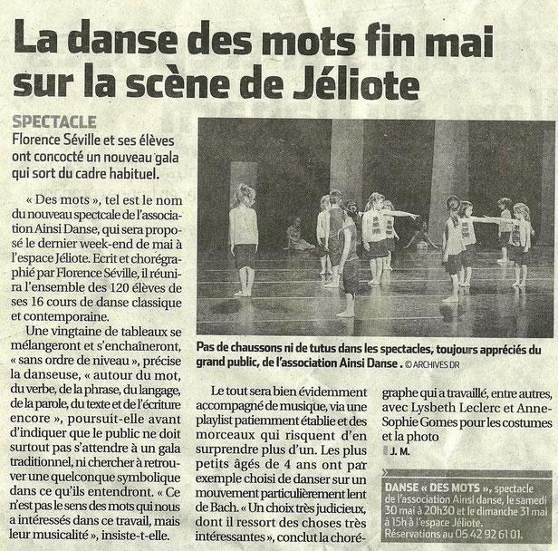 Article du 04/05/2015