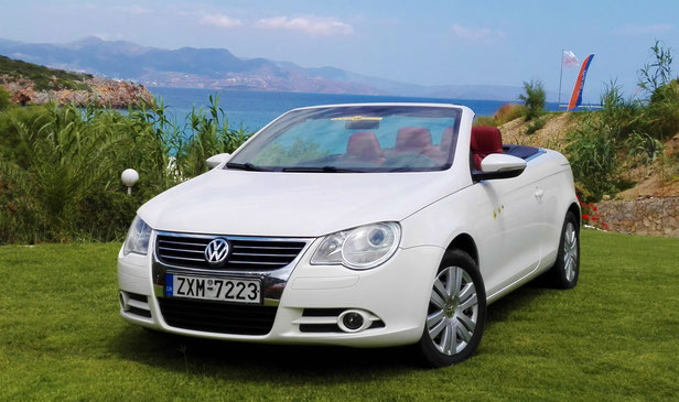VW-EOS TSI - hard-top-cabrio with integrated glass-sliding roof