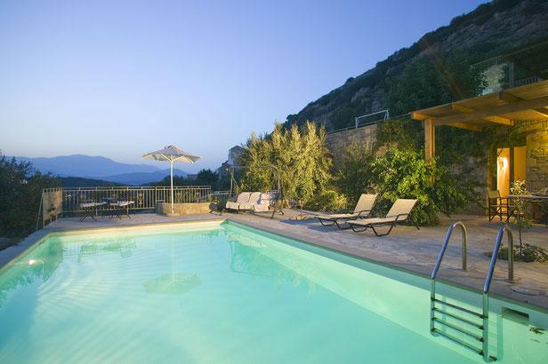 "Privat-Pool der Istron Bay-Villa ""Alkistis"""