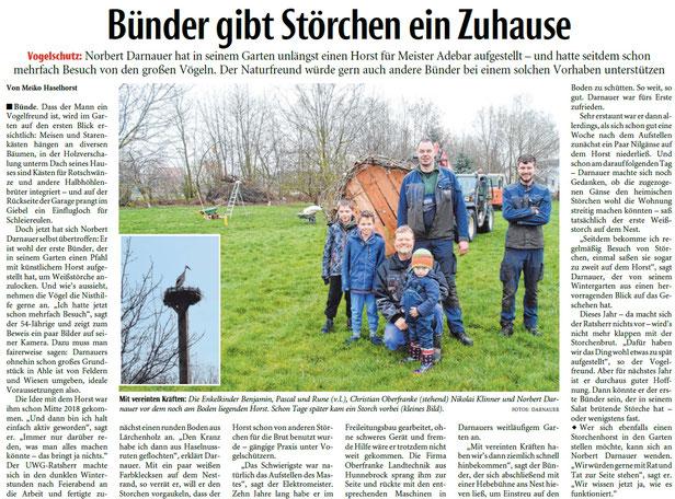 Mit freundlicher Genehmigung der Neuen Westfälischen (Artikel vom 16.04.2019)