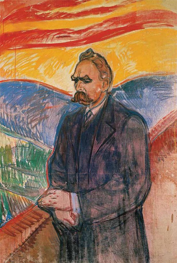 """Edvard Munch, """"Ritratto di F. Nietzsche"""", 1906"""