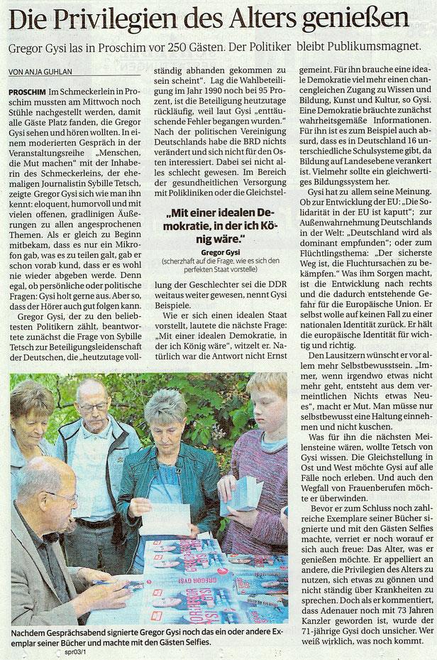 """aus der """"Lausitzer Rundschau"""" vom 6. Juli 2019"""