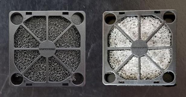 左が新品、右が2週間使用後です。