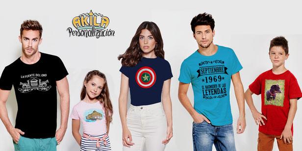 Personaliza tus camisetas en Akila | Aguilas | Murcia
