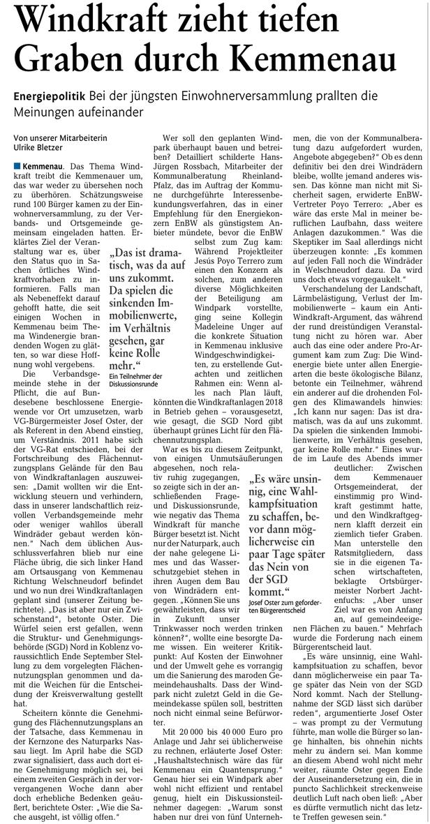 Rhein-Lahn-Zeitung v. 01.08.2018