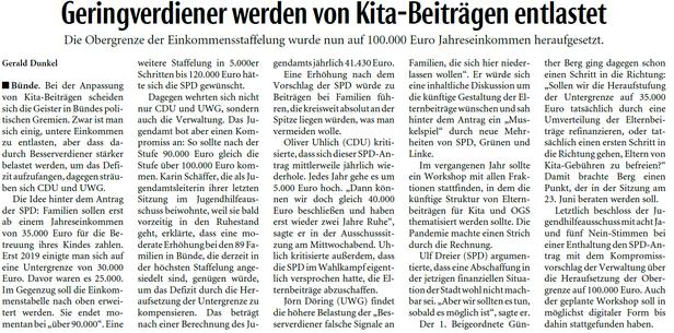 Mit freundlicher Genehmigung der Neuen Westfälischen (Artikel vom 09.09.2020)