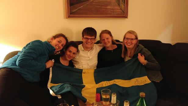 Matea Renic (2.v.l.) mit ihren Mitpraktikanten in Uppsala