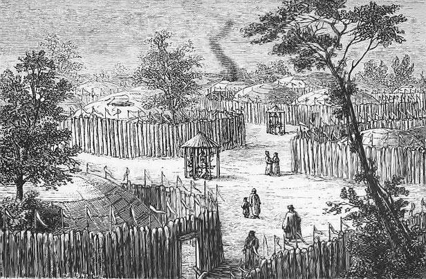 Une rue à Ourga. Victor Meignan (1846-) : De Paris à Pékin par terre. Plon, Paris, 1877.