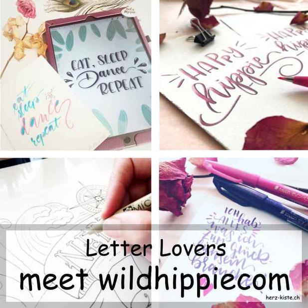Letter Lovers in der Herz-Kiste: wildhippiecom mit einer Anleitung für ein komplexes Layout