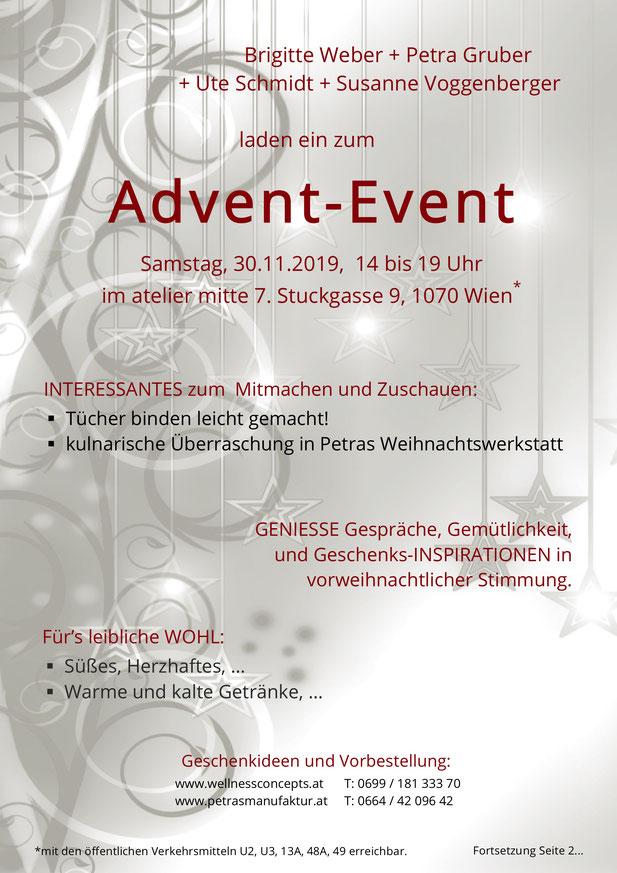 Petras kulinarische Manufaktur Advent-Event mit Blick über Wien 24.11.2017 15:24 Uhr